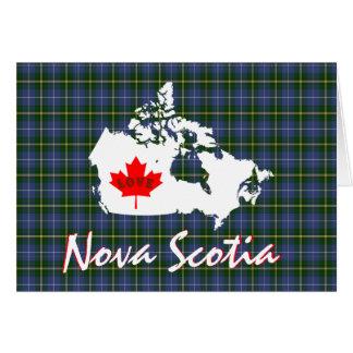 Nova Scotia tartan Customize Love Canada card