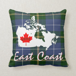 Nova Scotia tartan Customize love East Coast Throw Pillow