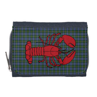 Nova Scotia Tartan  Denim  Wallet lobster