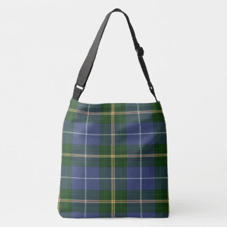 Nova Scotia Tartan Lighthouse Route Cross Bag
