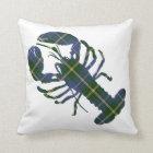 Nova Scotia Tartan Plaid Decorator Lobster pillow