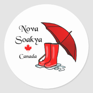 Nova Soakya, Canada Classic Round Sticker