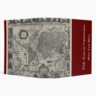 Nova totius terrarum, 1606 Antique World Map Binders