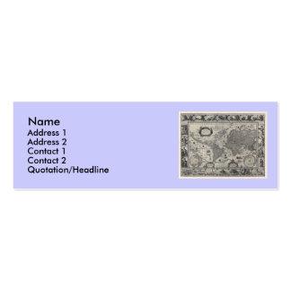 Nova totius terrarum, 1606 Antique World Map Business Card