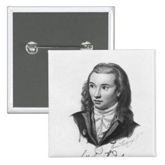 Novalis  1845 2 inch square button