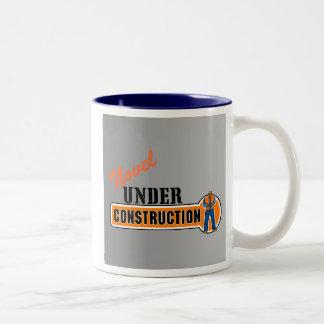 Novel Under Construction Two-Tone Coffee Mug