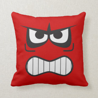 Novelty Angry Furious Smiley Face Pillow
