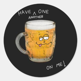 novelty beer monster sticker