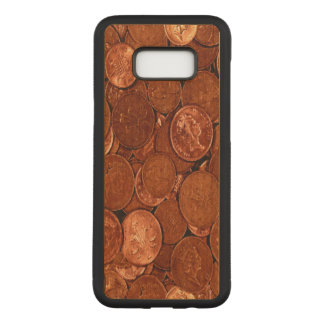 Novelty Copper Coins Carved Samsung Galaxy S8+ Case