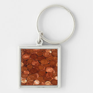 Novelty Copper Coins Keychain