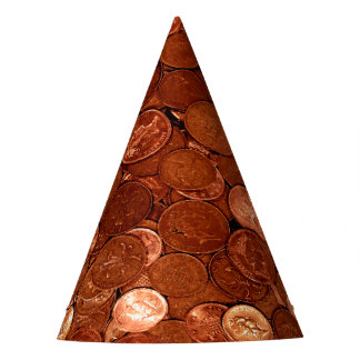 Novelty Copper Coins Party Hat