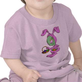 Novelty Easter Bunny Alien Design Tee Shirt
