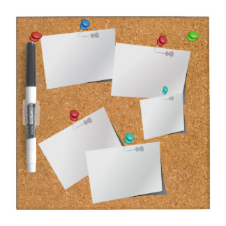 Novelty Fake Effect Cork Board Notes