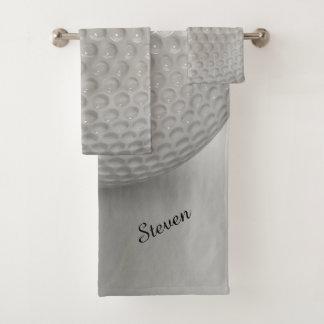 Novelty Golf Ball Sport Bath Towel Set