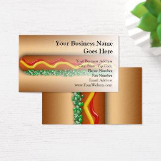 Novelty Hot Dog Graphic Vending Restaurant Food Business Card