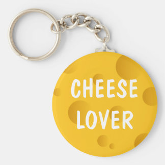 Novelty keychain for swiss cheese lover