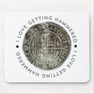 Novelty metal detecting mouse pad
