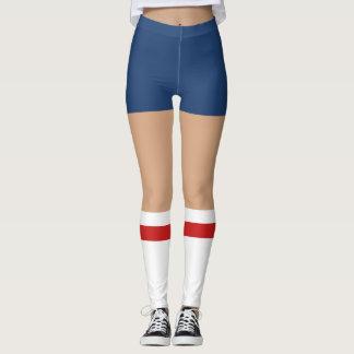 Novelty Nerdy Shorts And Tube Socks Leggings