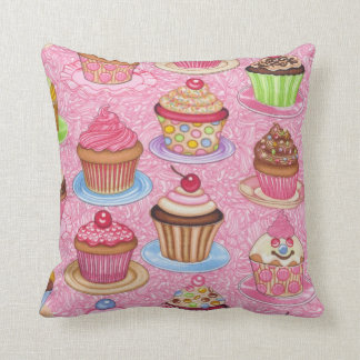 Novelty Pillow - Cupcakes Square