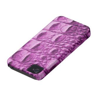 Novelty pink crocodile skin iPhone 4 case