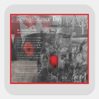 November 11 Remembrance Day Sticker