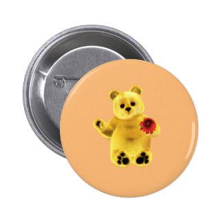 November Bear 2 Inch Round Button