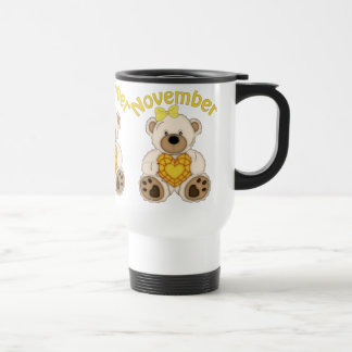 November Bear Birthstone travel mug