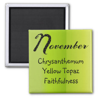 November Birthday Magnet