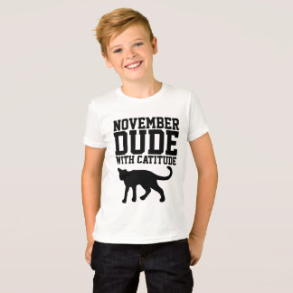 NOVEMBER BIRTHDAY T-shirts  for Men Guys Boys, Cat