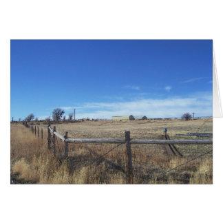 November Dry Grass Ranch View Card