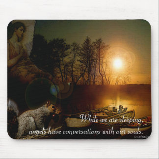 November Evening Angel Mouse Pad