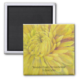 November Flower: Chrysanthemum Magnet