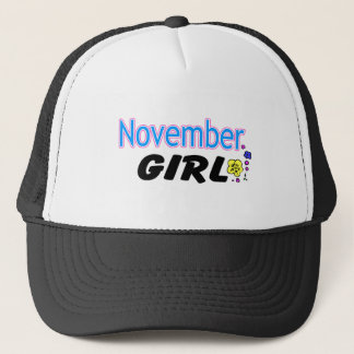 November Girl Trucker Hat