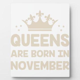 November Queen Plaque