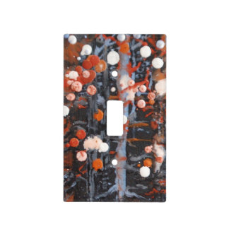 """November Snow"" light switch cover"