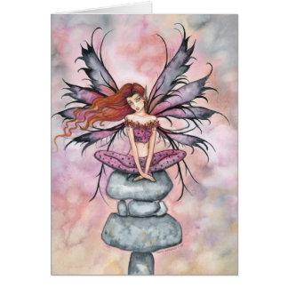 November Sprite Fairy Fantasy Art Card