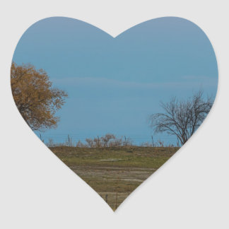 November Supermoon Rising Heart Sticker