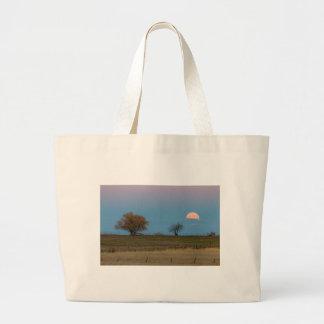 November Supermoon Rising Large Tote Bag