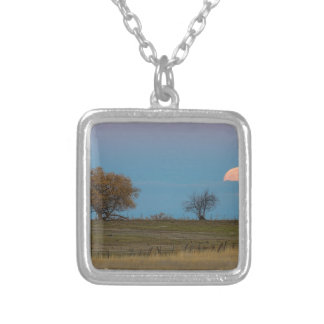 November Supermoon Rising Silver Plated Necklace