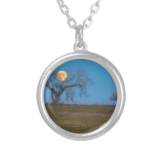 November Supermoon Silver Plated Necklace