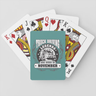 November Truck Driving Legends Playing Cards