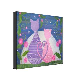 Novembre doux - l'amour de chat de 16x20 Kitty Toiles