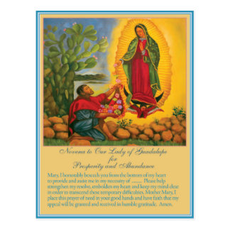 Novena for Prosperity and Abundance Postcard