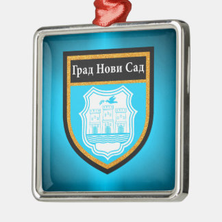 Novi Sad  Flag Metal Ornament