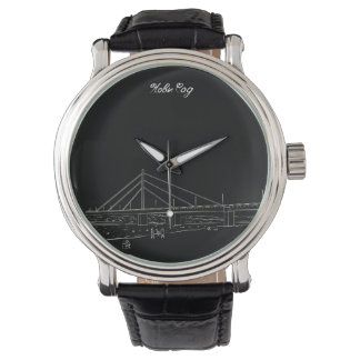 Novi Sad Vojvodina Nostalgic Elegant Sketch Classy Watch