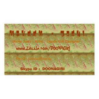NOVINO Card Templates - Rich Golden Strips Business Card Templates