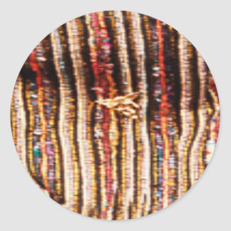 NOVINO Costumes - Enchanting Fabric Patterns Round Sticker
