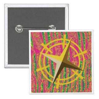 NOVINO Gold Star Drive Wheel 2 Inch Square Button