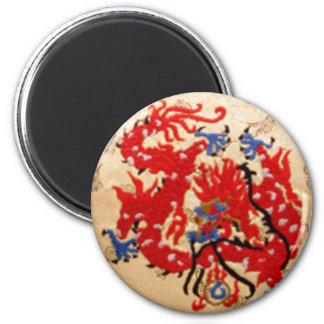 NOVINO Red n Gold Dragons Magnets