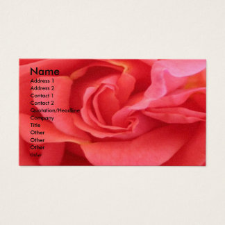 NOVINO - Red Rose Business Card